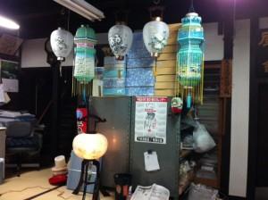 2012年初盆の提灯